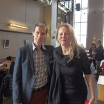 20-vuotisjuhlakokous (kevät) 2018, hallituksen jäsen Ulf nyman ja puheenjohtaja Satu Kiuru, kuvaaja Piela Auvinen