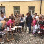 Suuri Maalaustapahtuma Lapinlahden Lähde 2018, maalausdemo, kuvaaja kuvaaja Kristiina Kostia