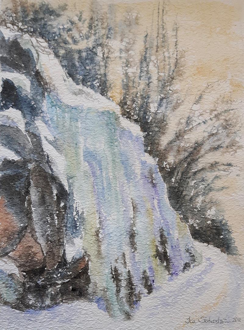 Cascade of ice